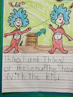 Thing 1 and Thing 2 kindergarten writing