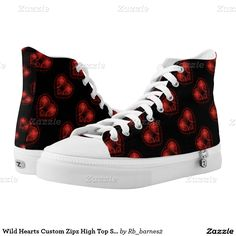Wild Hearts Custom Zipz High Top Shoes Printed Shoes