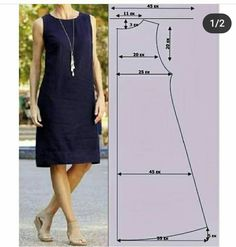Linen Dress Pattern, Skirt Patterns Sewing, Clothing Patterns, Sewing Kids Clothes, Make Your Own Clothes, Sewing Lessons, Fashion Sewing, Sewing Techniques, Simple Dresses