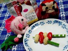 我が家の 常備菜 『大豆ピクルス』を むらさき芋パウダーで 着色。