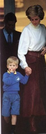 September 15 1988 Charles & Diana and Harry take William to school at Wetherby