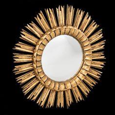 Espelho de meados do sec.20th, 52cm de diametro, 2,570 USD / 2,260 EUROS / 8,980 REAIS / 16,590 CHINESE YUAN soulcariocantiques.tictail.com