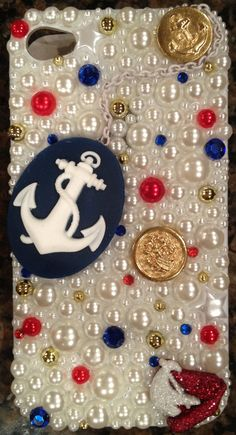 sparkle anchor iphone case