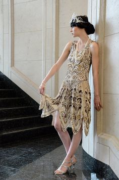 Ballets Russes  beaded fantasy Evening  Dress  or by NatashaVon, $1350.00