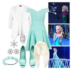"""""""Elsa"""" by moony1026 ❤ liked on Polyvore featuring Disney, Closet, H&M, Chopard, Forever 21 and Wet Seal"""