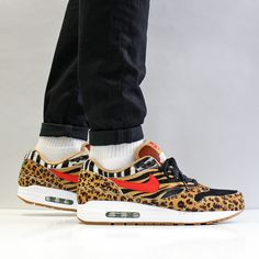 Nike Air Max 1 Atmos Beast Pack Air Max 1s, Nike Air Max, Stocking Tops, Latest Sneakers, Sneaker Release, Nike Acg, Shoe Game, Clothing Items, Nike Shoes