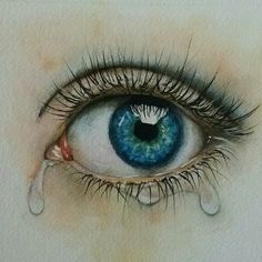 Hyperrealistic eye watercolour