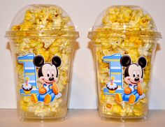 Mickey Mouse Baby Popcorn Cups Set Of 12