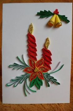 Neli Quilling, Paper Quilling Cards, Paper Quilling Jewelry, Paper Quilling Designs, Quilling Paper Craft, Quilling Patterns, Paper Crafts, Quilling Christmas, Christmas Crafts