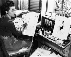 "Jackie Ormes (1911  1985) was a cartoonist illustrator and artist from #Pittsburgh. Ormes creator of the popular ""Torchy Brown"" and ""Patty-Jo 'n' Ginger"" newspaper comic series is regarded as the first female African American cartoonist. She got her start writing editing and proofreading for the Pittsburgh Courier but drawing was her first love and her first comic strip ""Torchy Brown in Dixie to Harlem"" appeared in 1937 and was quickly syndicated to fourteen other newspapers. Though she…"