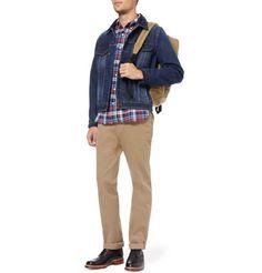 Beams PlusPlaid Cotton-Flannel Shirt