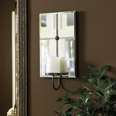 """18""""H X 9""""W X 5""""D Allusion Candle Sconce"""