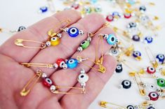 Evil Eye Pins 50 Pcs Mix Color Bulk Evil Eye Beads With Pin Gift Tag Wedding invitation , Evil Eye Beads Hook - baby shower supplies Cheap Silver Rings, Silver Jewelry, Eye Safety, Safety Pins, Eye Symbol, Expecting Mom Gifts, Baby Shower Supplies, Women Jewelry, Unique Jewelry