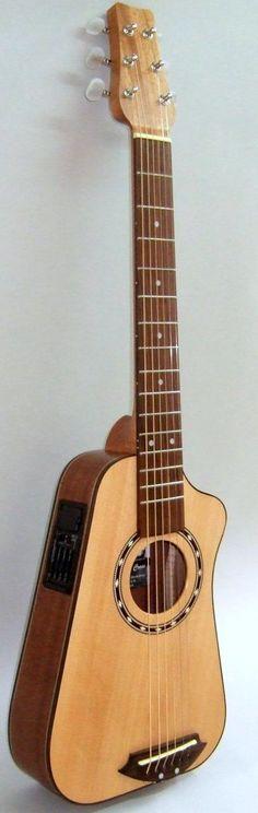 Richard Cross Shapelywood travel Guitar ~ https://www.pinterest.com/lardyfatboy/