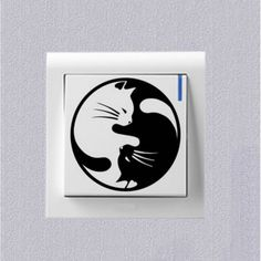 Cheap decals quality, Buy Quality sticker ford directly from China stickers mail Suppliers: The cat of Yin and Yang Fashion Cartoon Switch Sticker Decoration Personality Vinyl Wall Decals Cheap Wall Stickers, Vinyl Wall Decals, Jin Yang, Cartoon, Personality, Decoration, Fashion, Decor, Moda