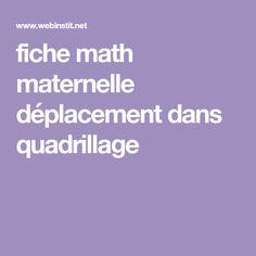 fiche math maternelle déplacement dans quadrillage