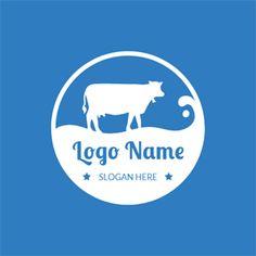 Cow Logo, Farm Logo, Custom Logo Design, Custom Logos, Logo Inspiration, Laundry Logo, Milk Packaging, Online Logo, Kids Logo