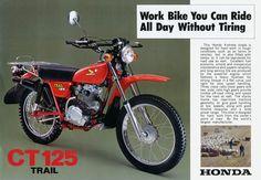 1977 Honda CT125 Vintage Motorcycle Poster Print 25x36   eBay