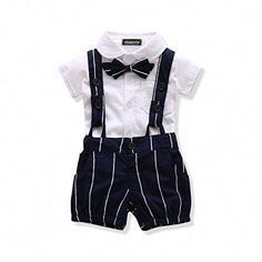 Ferenyi US Baby Boys Bowtie Gentleman Romper Jumpsuit Overalls Rompers months, White): US Baby Boys Bowtie Gentleman Romper Jumpsuit Overalls Romperbr Set Include: Jumpsuitbr months)br Jumpsuit Length: Full Length br Material: Polyester, Cotton. Baby Boy Dress, Cute Baby Boy Outfits, Cute Baby Clothes, Kids Outfits, Little Boy Outfits, Chic Outfits, Fashion Outfits, Little Boy Fashion, Baby Boy Fashion