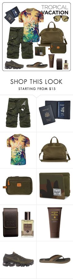 """Ready for a Tropical Getaway"" by onyxandalexa ❤ liked on Polyvore featuring Royce, Givenchy, Bric's, Herschel Supply Co., Acqua di Parma, NIKE, Sperry, Gucci, men's fashion and menswear"