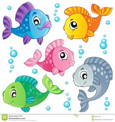 cute fish clip art | Various cute fishes collection 3 - vector illustration.