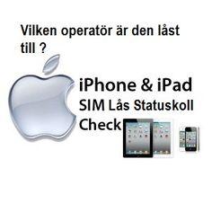 Undrar du om en iPhone är låst eller ej?Undrar du vilken operatör en iPhone är låst till? Vi kan ge dig all relevant information om din Iphone via vår unika upplysningstjänst. Den fungerar dessutom med alla Apples produkter.
