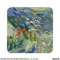 Details from Van Gogh's Olive Grove Coaster Set