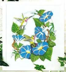 Resultado de imagen para colibri bordado en punto de cruz