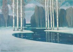 Birch+Trees+by+a+River+-+Vilhelms+Purvitis