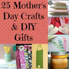 25 Mother's Day Crafts & DIY Gifts from @A Spectacled Owl. So many fun ideas! Washi Tape Bookmarks, Homemade Soap Recipes, Decoupaged Colorful Bracelets, DIY Body Butter and so much more!