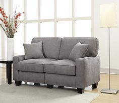 Serta RTA Palisades Collection 61inches Loveseat in Glacial Gray