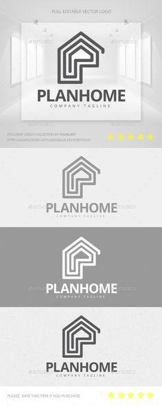 Plan Home  Logo Design Template Vector #logotype Download it here:  http://graphicriver.net/item/plan-home-logo/11454030?s_rank=1247?ref=nesto