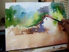Watercolor Demo - Chimneys Short and Tall - YouTube