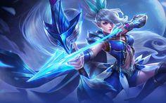 Hero Marksman Miya Hero of Story Mobile Legends Wallpaper HD (Android or PC) - Miya was born in the Temple of the Moon and studied hard to one day become a worthy