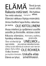 Elämä - Juliste - http://sisustusullakko.com/tuote/elama-juliste