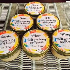 Bridesmaid Candles, Bridesmaids, Wedding Favors, Party Favors, Wedding Day, Special Day, Coupons, Create Your Own, Etsy Seller