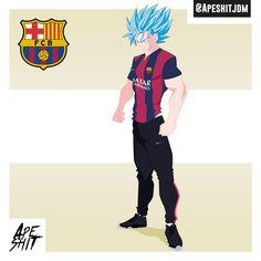 #Dragonball #FCB #barca #fcbarcelone #soccer #Dbz #football #sangoku #goku #Cartoon #saiyan #manga #classic #warrior #ready #championsleague #champions #league #power #adidas #nike #posing #characters #design