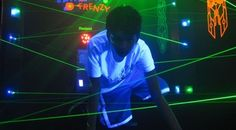 Laser Frenzy Game | this is incredible - recreate with black lights & glow in the dark rope