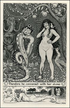 Anatole France Thais illustrated by Frank Pape Ink Illustrations, Illustration Art, Figure Sketching, Figure Drawing, Anatole France, Black And White Illustration, Adam And Eve, Ancient Art, Erotic Art