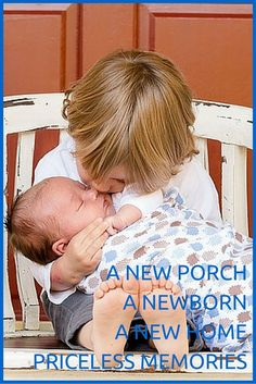 A new porch. A newborn. A new home. Priceless Memories http:/reshawnaleaven.com