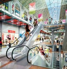 Un aperçu du nouveau centre commercial Saint-Lazare