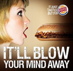 "A displaced code occurs whenever there is a transfer of meaning from one set of signs to another. In 2009, this sexually-subliminal advertisement was released by a franchise of Burger King to market their new ""Super Seven Incher"" sandwich. These kinds of codes are also tactics seen used in ""shock advertisements"" for companies selling an image or a brand featuring sexual or violent elements."