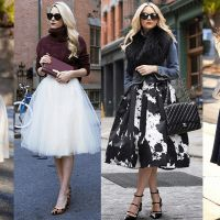 Wear Your Midi Skirt This Winter