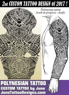 polynesian tattoo arm, juno tattoo designs