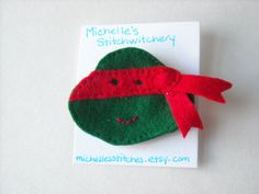Hey, I found this really awesome Etsy listing at https://www.etsy.com/listing/252926440/tmnt-inspired-felt-brooch-raphael