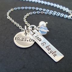 have a necklace like this thats stick with ky bell cr and wills names..but need a new one for twins!!
