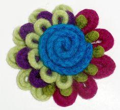 Pretty wool felt flower