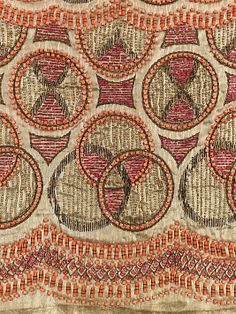 Textile Textile attributed Sarah Lipska (Polish, 1882–1973), Silk, Metal, Glass, 1922