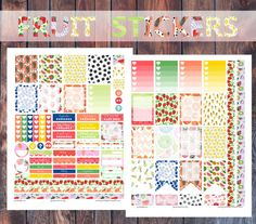 Fruits Planner Stickers for Erin Condren Print by PrintsesPlanner