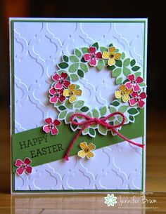 Wondrous wreath ; Easter blossoms ; Pictogram punches ; Wonderful wreath framelits ; Itty bitty accents punch pack ; Modern mosaic TIEF